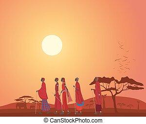 masai, landschaftsbild
