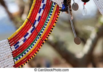 masai, traditionnel, bijouterie