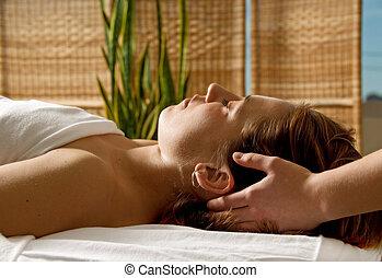 masaje de cabeza