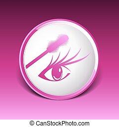 mascara eye brush paint makeup stroke isolated eyelash