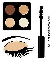 mascara  - eye make up eye shadows
