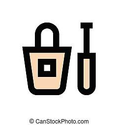 mascara  flat color icon