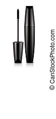 Mascara in tube vector illustration isolated