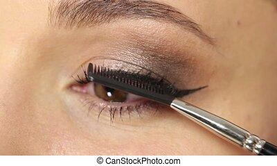 Mascara professional makeup - Professional makeup: mascara...