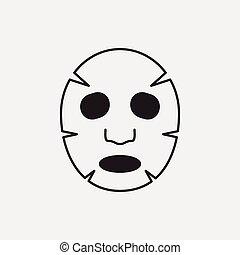 maschera, facciale, icona