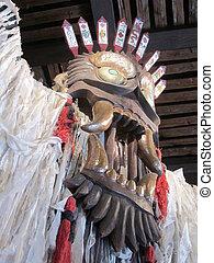 maschera legno, cerimoniale