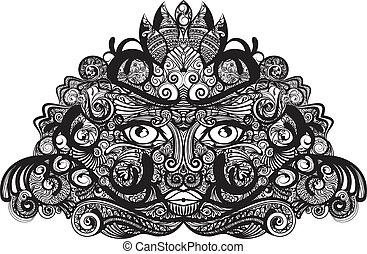 mascherina tribale