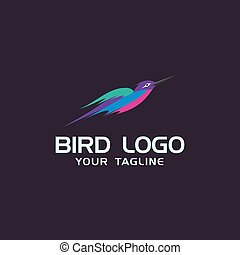 mascherine, concetto, creativo, disegno, logotipo, colibrì