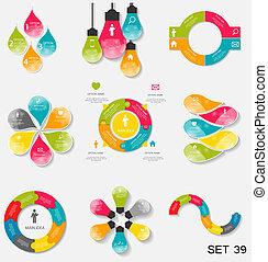 mascherine, illustration., affari, collezione, infographic, vettore