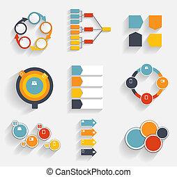 mascherine, illustrazione affari, infographic, vettore, collezione