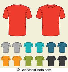 mascherine, men., set, colorato, t-shirts