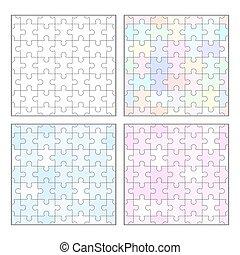 mascherine, puzzle, jigsaw, seamless, vuoto