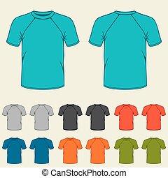 mascherine, set, colorato, uomini, t-shirts