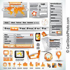 mascherine, web, premio, elements., icone, grafici, infographics, grafico, roba, disegno, frecce, lotto, maestro, histograms, collection:, relativo