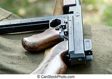 maschine, militaer, gewehr, rekonstruktion