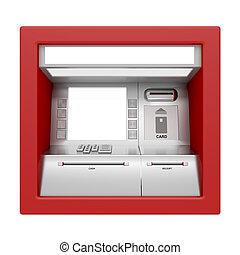 maschine, weißes, geldautomat, freigestellt