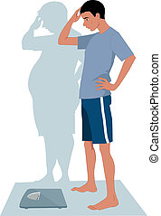 maschio, anoressia