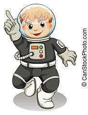 maschio, astronauta