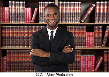 maschio, avvocato, in, ufficio