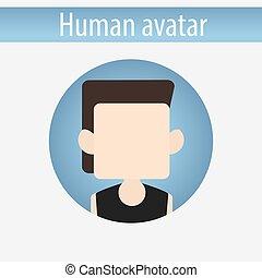maschio bianco, roccia, avatar, uomo