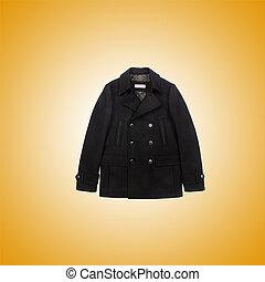maschio, cappotto, contro, pendenza
