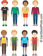maschio, faceless, adolescenti