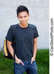 maschio giovane, studente, asiatico
