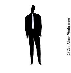 maschio, silhouette, affari