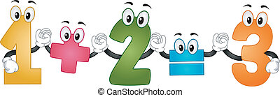 Mascot Addition - Illustration of Mascot Numbers performing ...