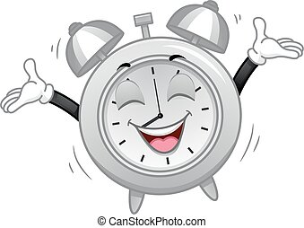 Mascot Alarm Clock Happy Morning