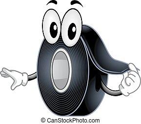 Mascot Black Electrical Tape - Mascot Illustration of a ...