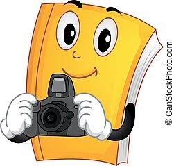 Mascot Book Camera Illustration
