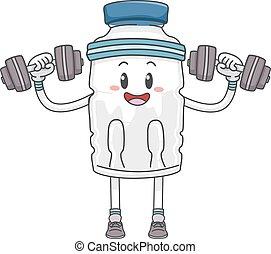 Mascot Bottled Water Lift Weights