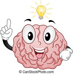 Mascot Brain Idea - Mascot Illustration of a Brain Having a...