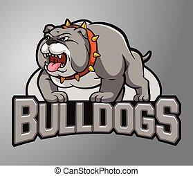Mascot Bull dog