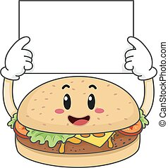 Mascot Burger Hold Board