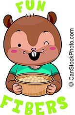 Mascot Chipmunk Chickpeas Fibers - Mascot Illustration...
