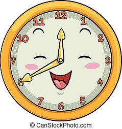 Mascot Clock Forty After Twelve