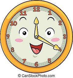 Mascot Clock Twenty After Twelve