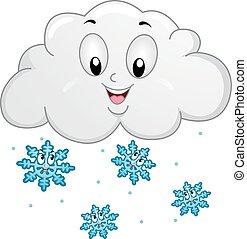 Mascot Cloud Snowflakes