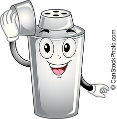 Mascot Cocktail Shaker Illustration