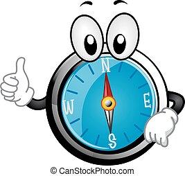 Mascot Compass Ok Illustration