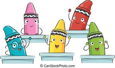 Mascot Crayons Class