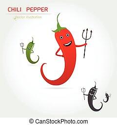 cute cartoon Hot chili pepper