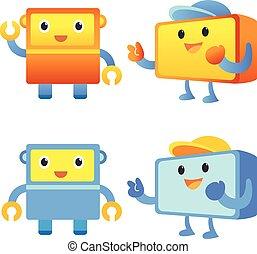 Mascot design set