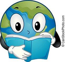 Mascot Earth Book Illustration