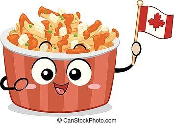 Mascot Food Canada Poutine Illustration