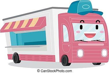 Mascot Food Truck Illustration