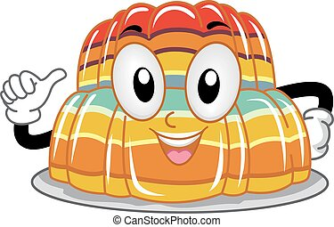Mascot Gelatin - Mascot Illustration of a Stack of Gelatin...