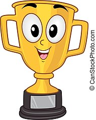 Mascot Gold Trophy Championship Cup - Mascot Illustration of...